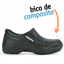 Sapato de Segurança com BICO DE COMPOSITE - Preto
