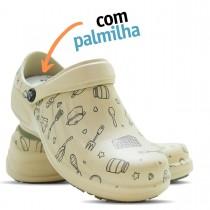 Babuche Profissional Soft Works Estampado Com Palmilha - Cozinha Pta - Bege