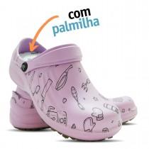 Babuche Profissional Soft Works Estampado Com Palmilha - Cozinha Pta - Ameixa