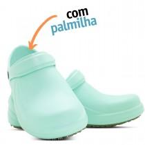Babuche Profissional Soft Works Antiderrapante com Palmilha - Verde Hospitalar