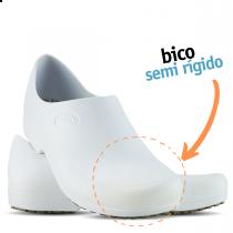 Sticky Shoe Man Antiderrapante com Bico - Branco