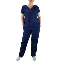 Conjunto Scrubs Feminino Pijama Cirúrgico Blusa e Calça - Azul