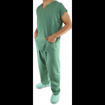 Uniforme Centro Cirúrgico (Pijama) Unissex - Blusa e Calça - Verde Escuro