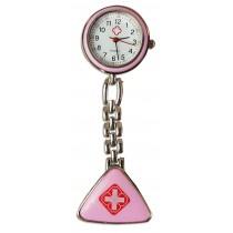 Relógio de Jaleco Metal - Rosa