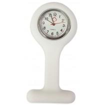 Relógio de Jaleco Silicone - Branco
