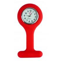 Relógio de Jaleco Silicone - Vermelho