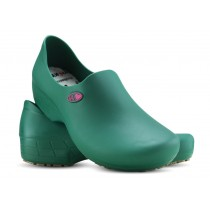 Sapato Antiderrapante Sticky Shoe Florence - Eletro Heart - Verde Escuro/Rosa