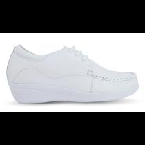 Sapato em Couro Salto Anabela - REF:083 - Branco