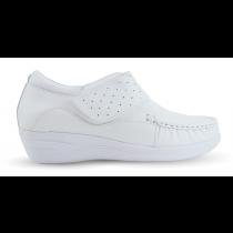 Sapato em Couro Salto Anabela REF 084 - Branco