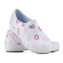 Sapato Lady Works - Corações Rosas - Branco