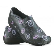 Sapato Lady Works - Corações Rosas - Preto