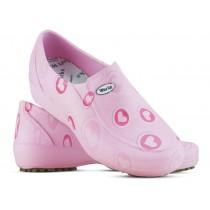 Sapato Lady Works - Corações Rosas - Rosa (