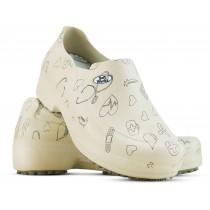 Sapato Profissional Soft Works II Estampado Bege - Ícones Pretos