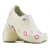 Sapato Profissional Soft Works II Estampado Bege - Corações Rosas