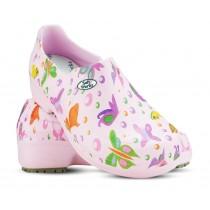 Sapato Profissional Soft Works II Estampado Borboleta - Rosa