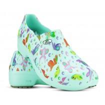 Sapato Profissional Soft Works II Estampado Borboleta - Verde Medicina
