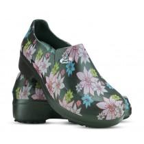 Sapato Profissional Soft Works II Estampado Flor Rosa - Preto