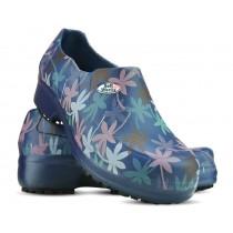 Sapato Profissional Soft Works II Estampado Folhagem Salmão - Azul Marinho