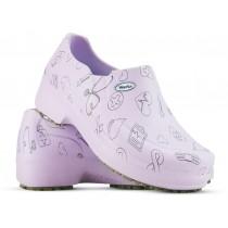 Sapato Profissional Soft Works II Estampado Lilas - Ícones Pretos