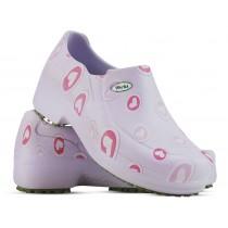 Sapato Profissional Soft Works II Estampado Lilas - Corações Rosas