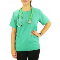 Scrubs Blusa Modelo Unissex com Botões - Verde