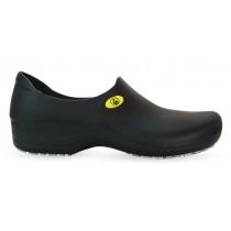 Sticky Shoe Woman Antiestático ESD Sem Bico - Preto