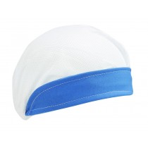 Touca Profissional de Aba Azul e Tela Branca