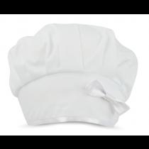 Touca Profissional Elástico Branco com Laço - Branco