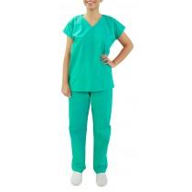 Uniforme Centro Cirúrgico (Pijama) Unissex - Blusa e Calça - Verde