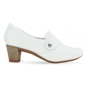 Sapato em Couro Neftali 47007 - Branco - Pin Eletro Coração
