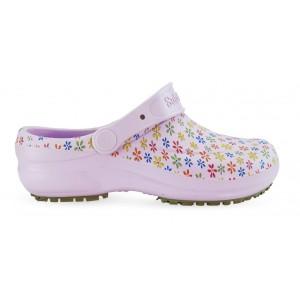 Babuche Profissional Soft Works Estampado Flores - Lilas