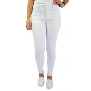 Calça Jeans Feminina Sawary Cigarrete Hot Pants - Branca