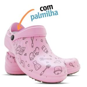 Babuche Profissional Soft Works Estampado Com Palmilha - Cozinha - Rosa