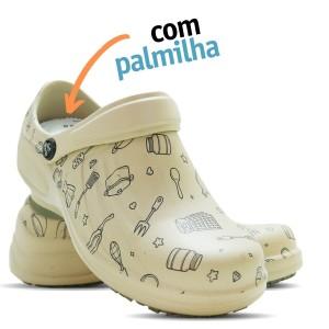 Babuche Profissional Soft Works Estampado Com Palmilha - Cozinha - Bege