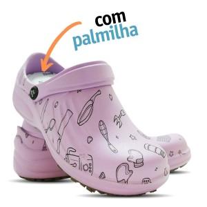 Babuche Profissional Soft Works Estampado Com Palmilha - Cozinha - Ameixa