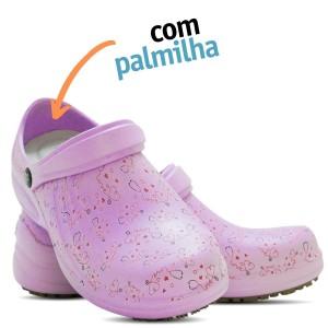 Babuche Profissional Soft Works Estampado Com Palmilha - Esteto Love - Lilas