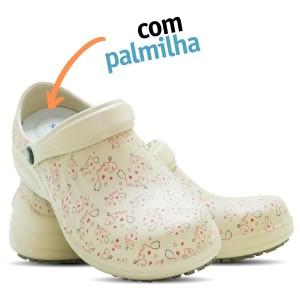 Babuche Profissional Soft Works Estampado Com Palmilha - Esteto Love - Bege