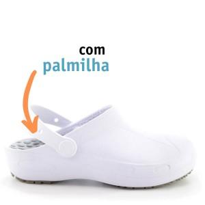 Babuche Profissional Plus com palmilha - Branco