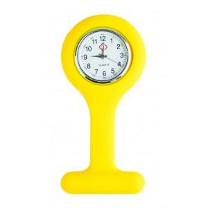 Relógio de Jaleco Silicone - Amarelo