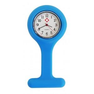 Relógio de Jaleco Silicone - Azul
