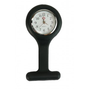 Relógio de Jaleco Silicone - Preto