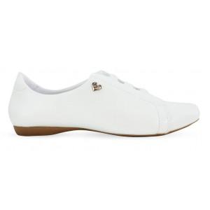 Sapato em Couro Neftali 20004 - Branco - Pin Eletro Coração