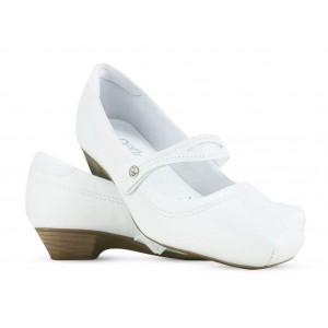 Sapato Neftali Salto Baixo 3703 - Branco