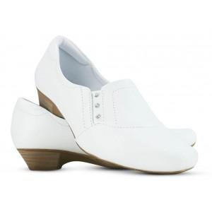 Sapato Neftali Salto Baixo 38001 - Branco