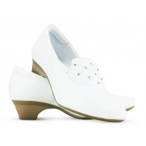 Sapato Neftali Salto Médio 40008 - Branco