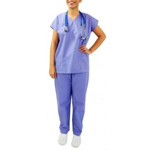 Uniforme Centro Cirúrgico (Pijama) Unissex - Blusa e Calça - Azul