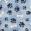 Bandana Profissional Patinhas - Azul