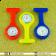 Relógio de Jaleco Silicone - Azul Escuro