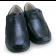 Sapato em Couro Salto Anabela - Preto