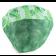 Touca Elástica Profissional Melancia - Verde com Aba Verde